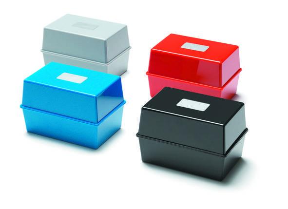 Deflecto Value Deflecto Card Index Box 8x5 Black