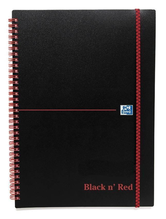 Black n' Red Notebook Wirebound Polypropylene 90gsm Ruled 140pp A5 Ref 100080140 [Pack 5]