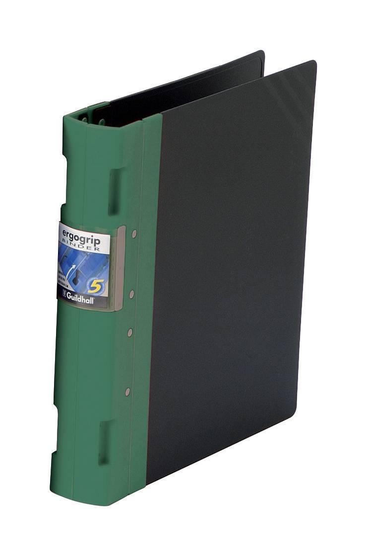 Guildhall GLX Ergogrip Binder Capacity 400 Sheets 4x 2 Prong 55mm A4 Green Ref 4536Z [Pack 2]