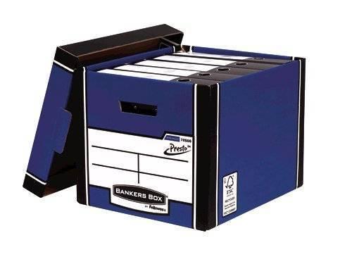 Bankers Box Fellowes Premium Presto Tall Box Blue PK10