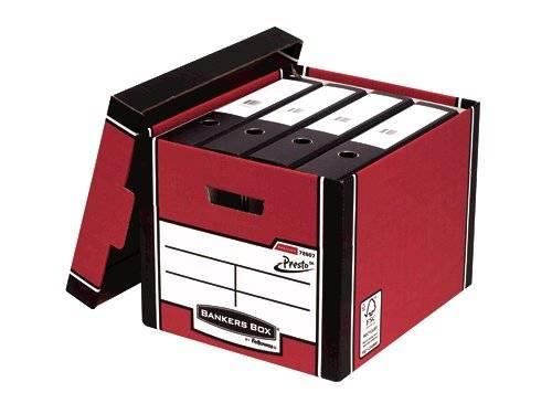 Bankers Box Fellowes Premium Presto Tall Box Red PK10