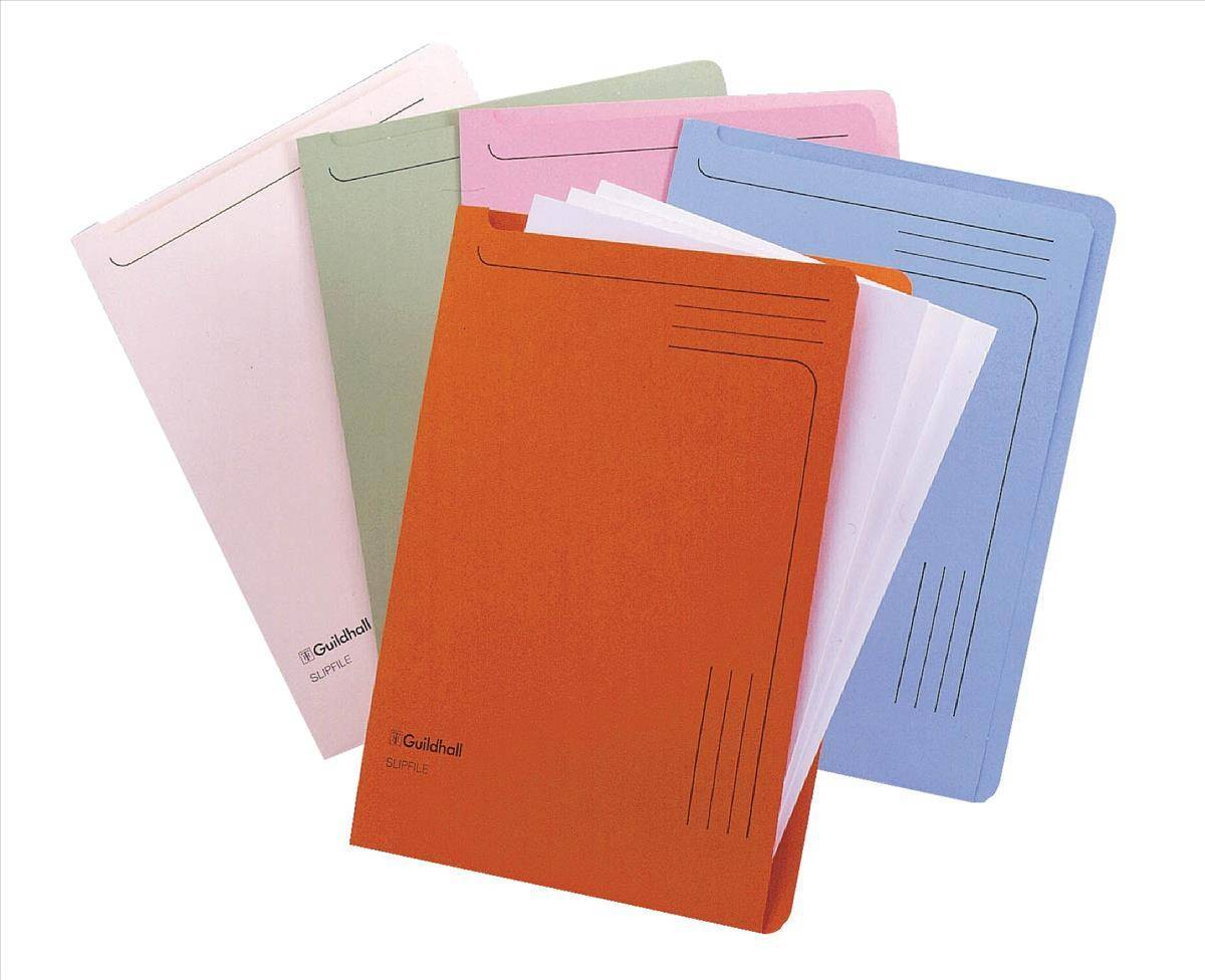 Guildhall Slipfile 230gsm Capacity 50 Sheets A4 Green Ref 4603Z [Pack 50]