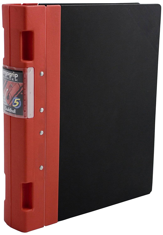 Guildhall GL Ergogrip Ring Binder 2-Ring 55mm A4 Red PK2