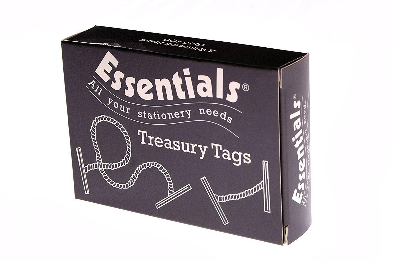 Whitecroft Essentials Value Treasury Tag Plastic 76mm Box 100