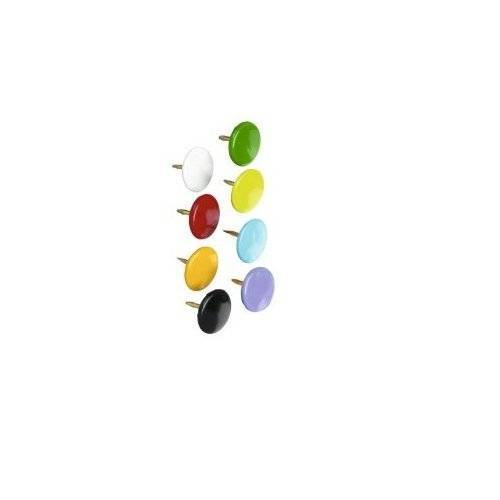 Whitecroft Essentials Value Drawing Pins 9.5mm Assorted Colours PK100