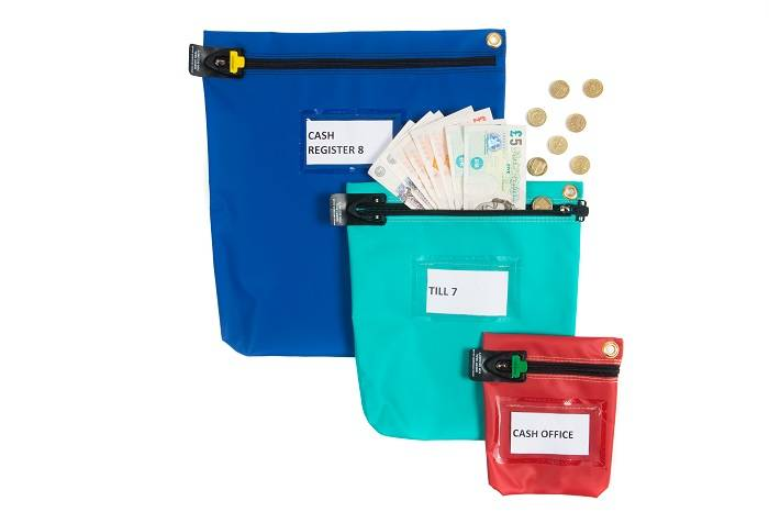 Versapak Secure Cash Bag Medium Blue