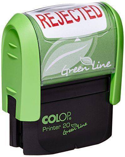 Colop Word Stamp Green Line Rejected