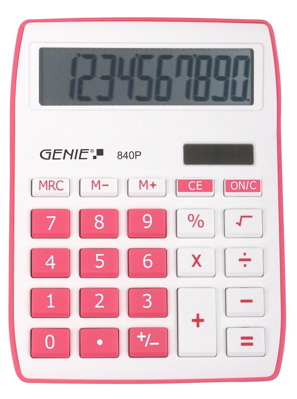Genie 840P Pink Calculator
