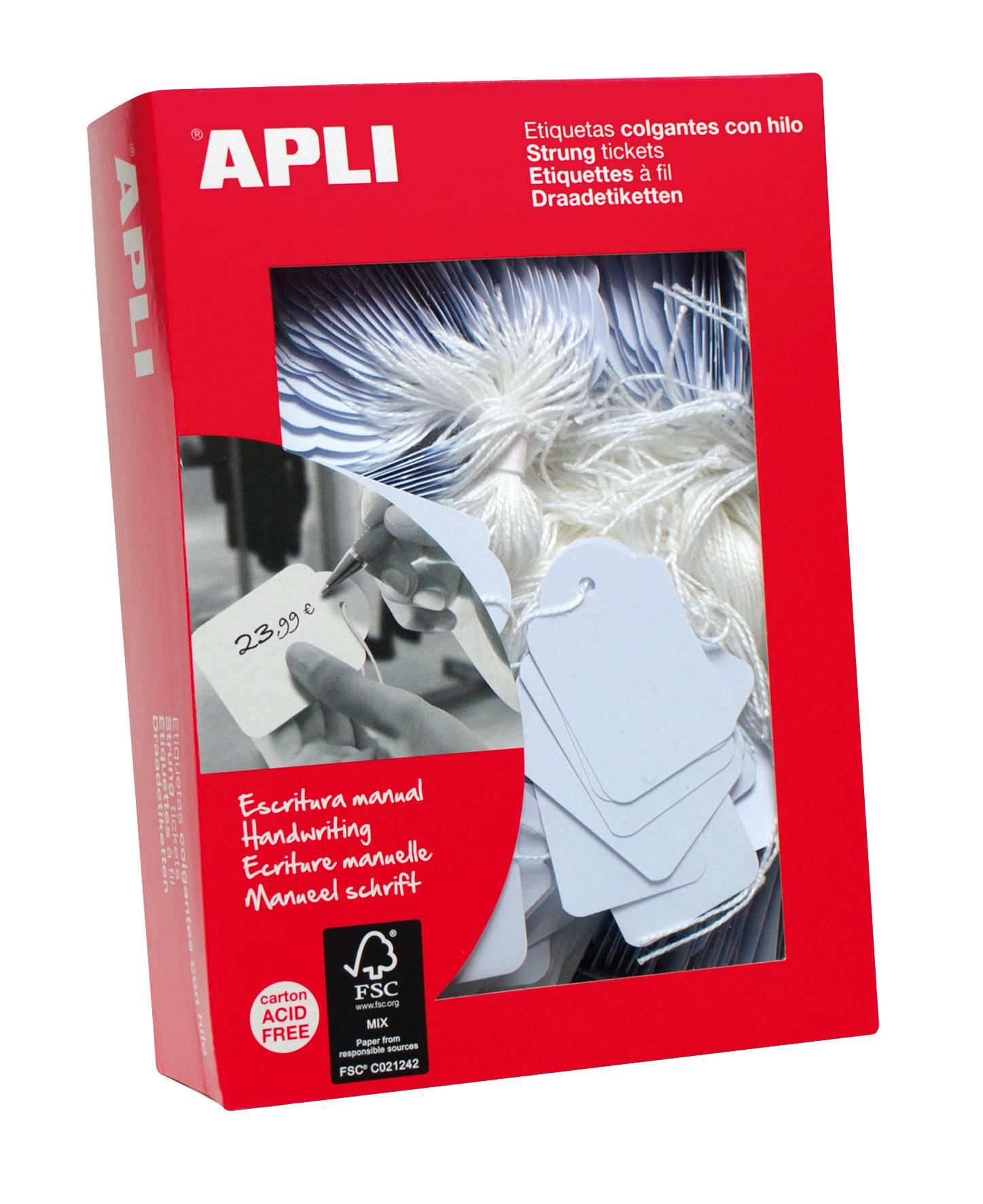 APLI Value Apli Strung Tickets 36x53mm White (PK500)