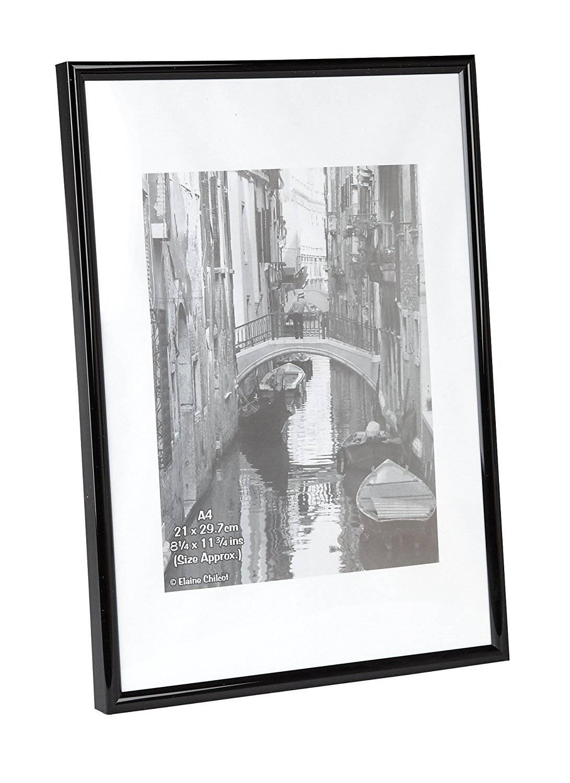 Photo Album Co A4 Certificate Frame Plastic Black