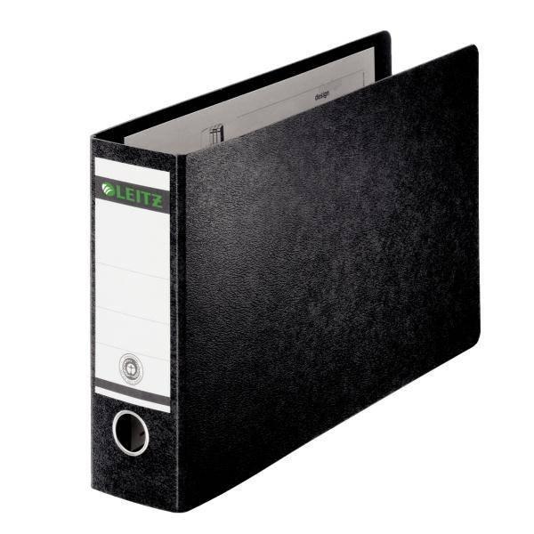 Leitz Board Lever Arch File Oblong Landscape 77mm Spine A3 Black Ref 1073-00-95 [Pack 2]