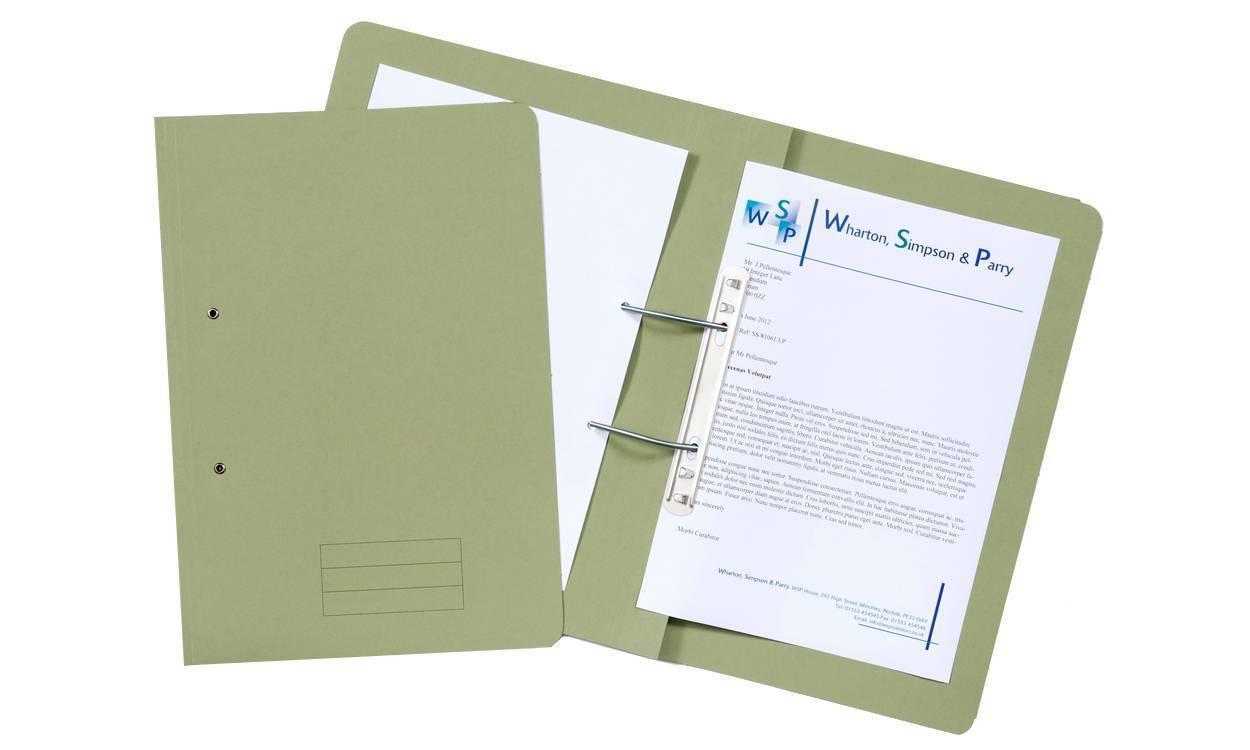 Exacompta Value Transfer File Foolscap Green TFM-GRNZ - (PK25)