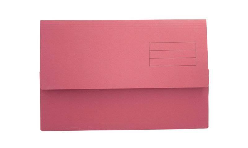 Exacompta Value Document Wallet Foolscap Red PK50