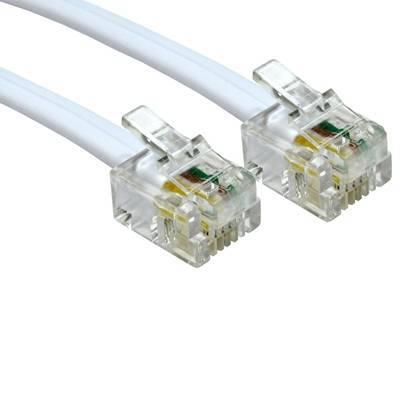 TARGET RJ11 (M) to RJ11 (M) 3m White OEM Cable