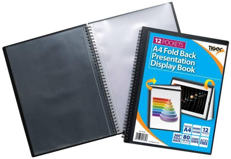 Tiger A4 Fold Back Display Book 12 Pocket