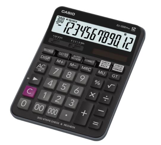 Casio DJ-120D Plus Desktop Calculator Black