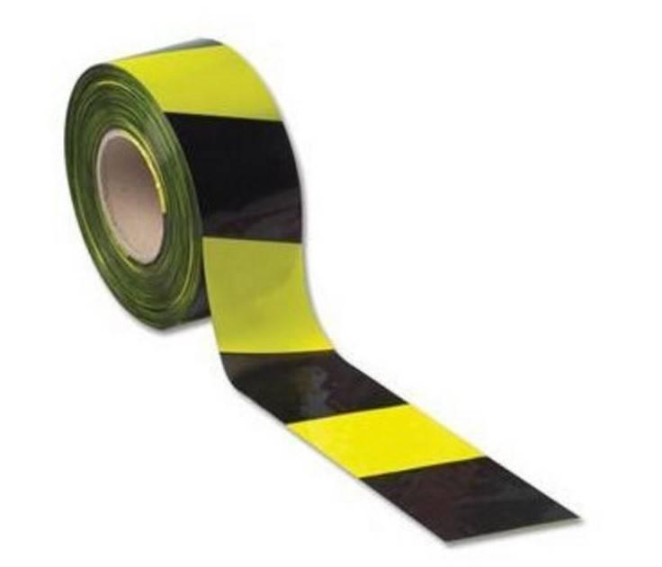 LSM Barrier Tape 75mm x 500m Yellow/Black