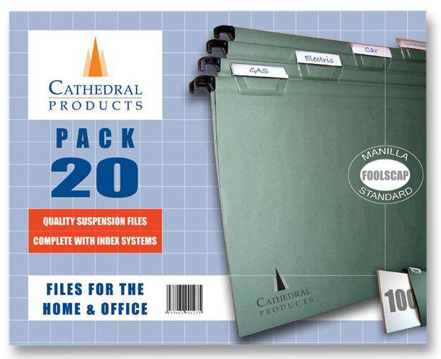 Cathedral Products Value Foolscap Suspension File PK20
