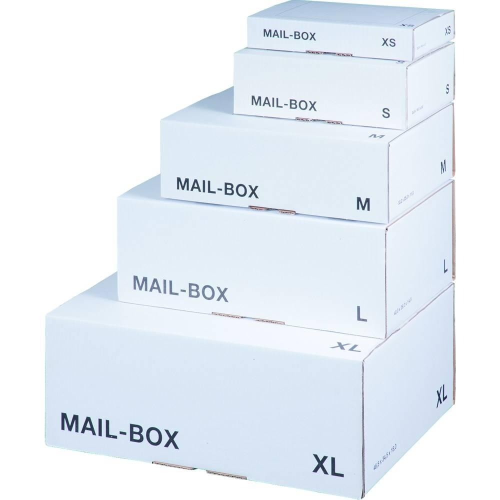 LSM White Mailing Box  325x245x105mm Size M White PK20