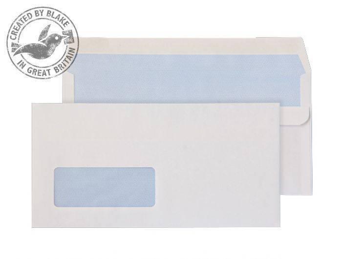 Blake Value Wallet S/S Window DL 110x220mm 90gsm White PK1000