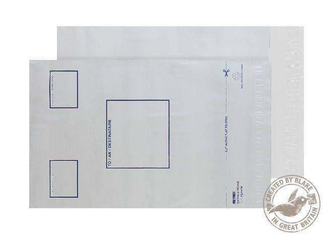 Blake Purely packaging C4 Plus Poly Mailer Address Panel P&S PK100