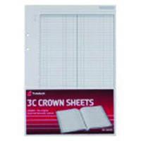 Twinlock 3C Crown Double Ledger Sheets Ref 75841 [Pack 100]