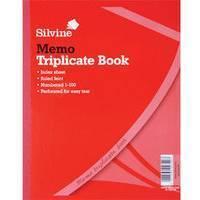 Silvine TRIPLICATE BOOK 8.1X5 MEMO605
