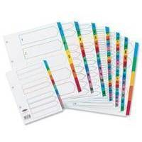 Concord Index Multicolour-tabbed Mylar-Reinforced 4 Holes 1-31 A4 White Ref CS32