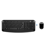 HP 3ML04AA Wireless Keyboard & Mouse 300 RF Wireless Black