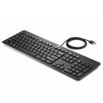 HP USB Business Slim Keyboard USB QWERTY English Black N3R87AA#ABU