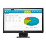 HP ProDisplay P203 X7R53AT#ABU 20IN HD Monitor 5 ms 1600 x 900 DP VGA